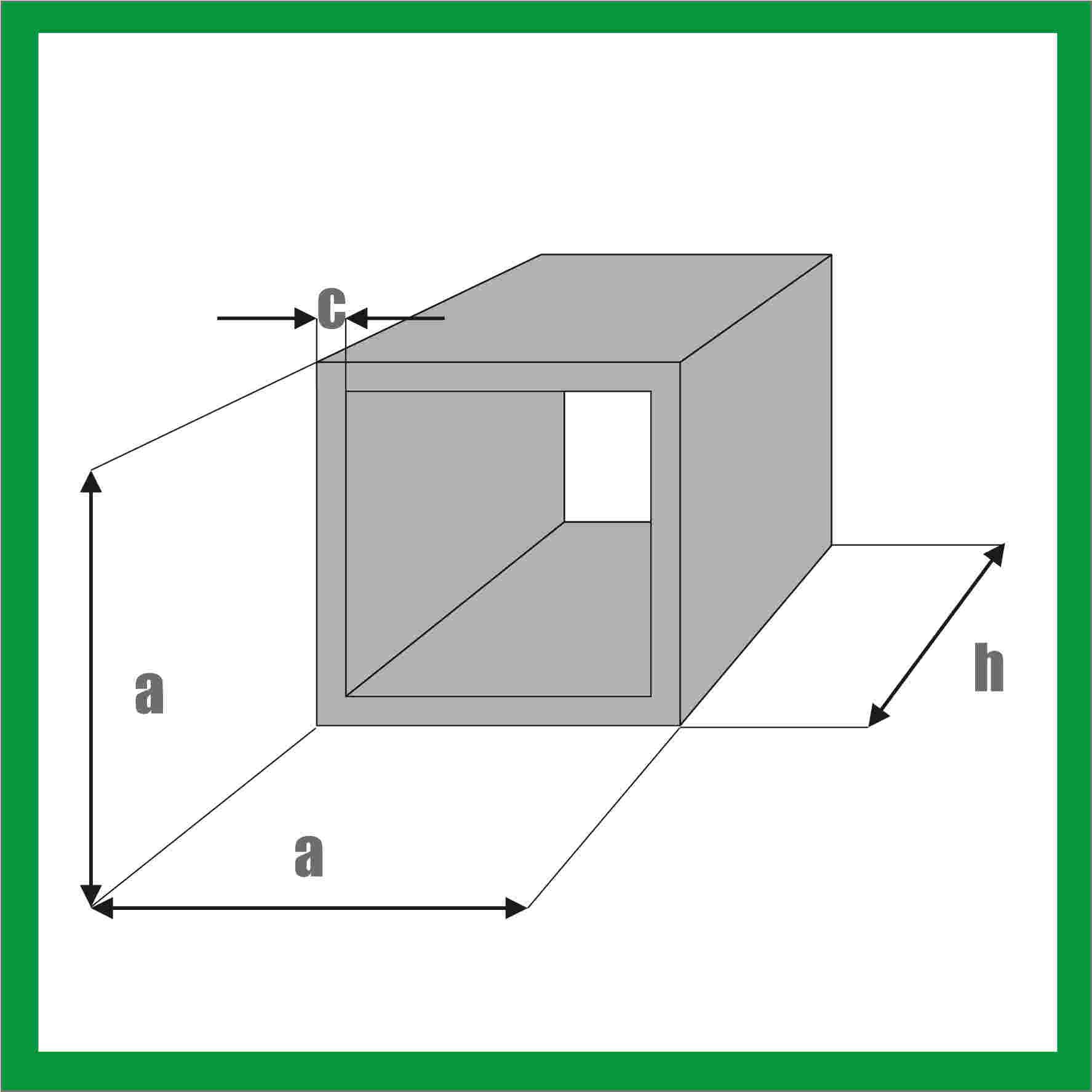 Rura kwadratowa mosiężna - wymiary